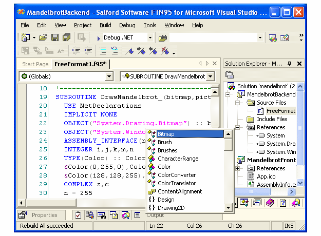 Silverfrost FTN95 for Microsoft Visual Studio .NET